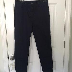 LOFT Julie Skinny Dress Pants Navy Size 8